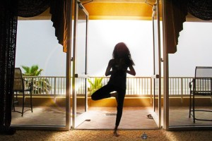 Yoga Ragda in Silhouette Meditation Pose. Photo Credit: Iris La Belle.