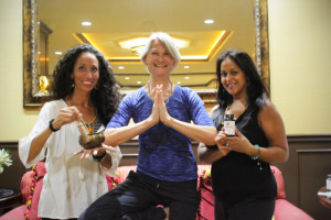 An Earth Day-Full Moon Evening Retreat with Ragda (Left- Meditation), Diane (Center-Yoga) and Shivani (Right-Ayurvedic & Natural Remedies) was a transformational experience!