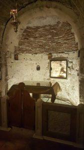 Tomb of Adam directly below the Calvary Cross...