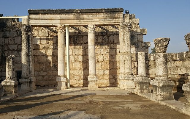Biblical Moment 21: Visiting the Temple at Capernaum on the Sea of Galilee!