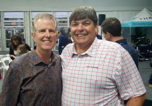 With Pastor George Powers of the Palm Valley Baptist Church...