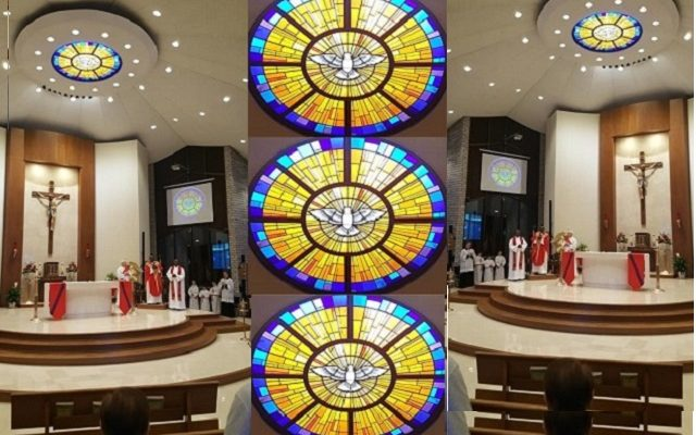 2019 ECSJ: Inspired by The Holy Spirit above the Altar at St. Thomas Aquinas on Pentecost!