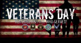 Happy Veteran's Day: May God Bless ALL Veterans!