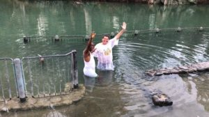 Baptized in the Jordan River at Yardenit by Pastor Komolate of Nigeria! Alleluia!