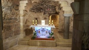 Altar where Mary lived amd where the Angel Gabriel informed her that she would become the Mother of the Son of God.