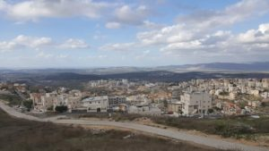 View from Nazareth to the south into the Jezreel Valley...