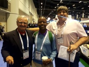 With Wally Armstrong & Kenya's Emanu Kasio (Golf For Kids)
