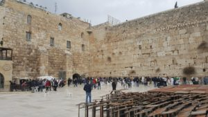 The Western Wall or Wailing Wall (Kotel) is an ancient limestone wall that is considered to be closest to the former 'Holy of Holies,' which makes it the most sacred site recognized by Judaism outside the ancient Temple itself.
